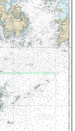 44.42 X 32.14 Paper Chart MapHouse NOAA Chart 13302 Penobscot Bay Approaches